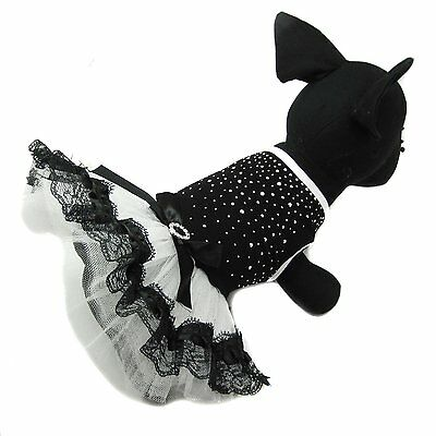 Dog  Bow Tutu Dress Lace Skirt Pet Puppy Dog Princess Costume Apparel Clothes M