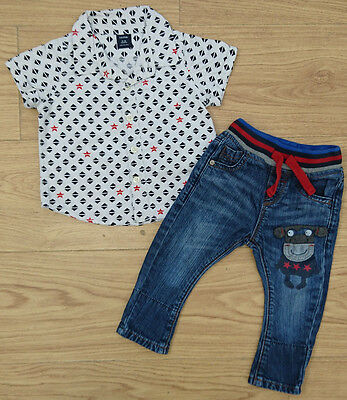 Next Gap Baby Boys Bundle Age 6-9 Months Jumper Joggers Outfit