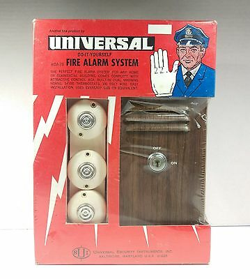 Vintage Do-it-yourself Universal Fire Alarm System NOS
