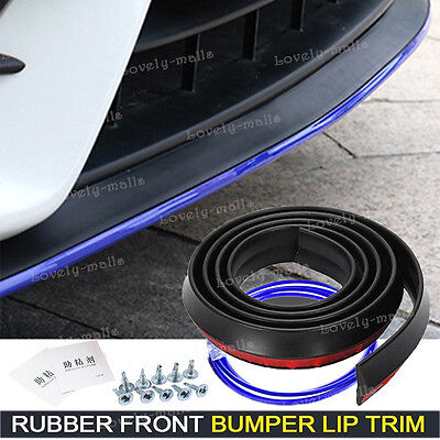 Universal Front Bumper Lip Splitter Chin Spoiler Body Kit Blue Trim For Scion