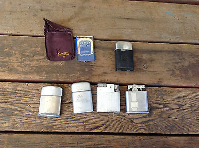 Lot of 5 Vintage Ronson Lighters + A Couple of Ronson Extras
