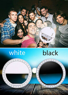 Selfie Flash Portable LED Ring White Fill Light Camera  For IPhone Android Phone