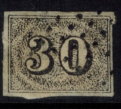 """Brazil #23, 1850 30r black FORGERY """"used"""" Fine"""