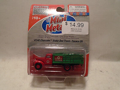 Classic Metal Works #30355 Ho '41/46 Chevy Stake Bed Texaco Oil New In Package