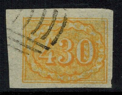 """Brazil #40, 1861 430r yellow FORGERY  """"used"""", VF"""
