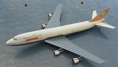 AirPlast Milano Italy Swissair Boeing 747 1/100 Scale Model Aircraft Airplane