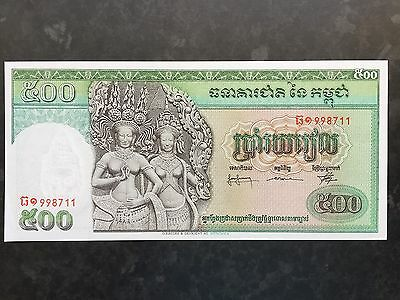Cambodia 500 Riels P9c Issued 1958 - 1970 Uncirculated UNC