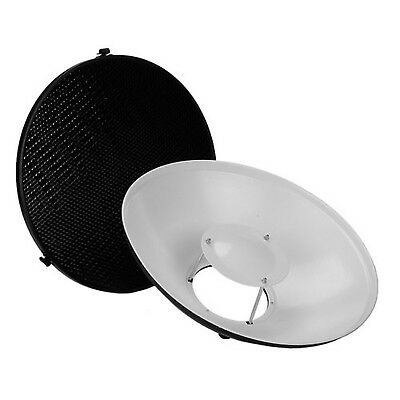 """Fotodiox Pro Beauty Dish 16"""" Kit with Honeycomb Grid and Speedring for Bowens..."""