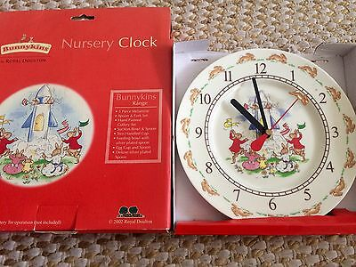 Genuine Royal Doulton Bunnykins clock for Nursery