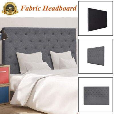 Bed Head Upholstered Fabric Bedhead Headboard for Base/Frame King / Queen