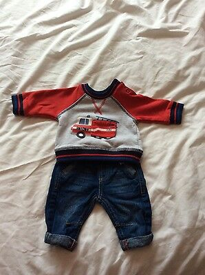 boys top and pants set 0/3 months
