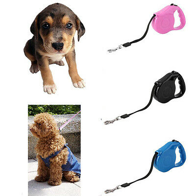 3m/5m Pet Dog Cat Puppy Retractable Traction Rope Walking Lead Leash New LJ