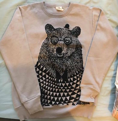 Monster Threads Bear Print Crew Neck Jumper - Size Small - BRAND NEW
