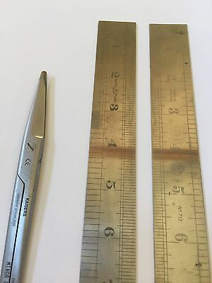 Vintage Whittam Walkden Ruler A1 Brand England /Mayo Surgical Scissors Lot of 3