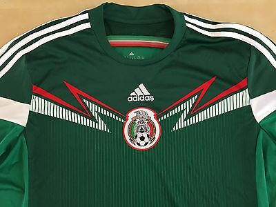 Adidas Mexico 2014 Long Sleeve Jersey Size XL World Cup FIFA Soccer Football