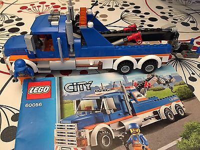 LEGO CITY # 60056 Tow Truck- Complete with instructions- EUC