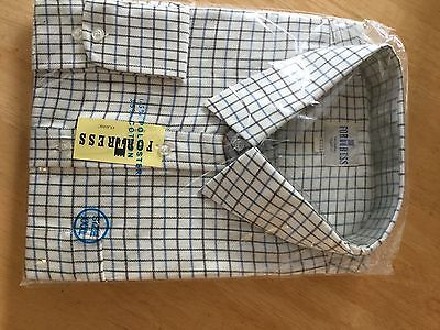 Men's Brushed Cotton Checked Shirt Size 3XL