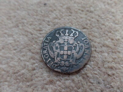 Old Collection Portugal Large Copper Coin 1732s - 34mm - 12.4g. Very Good Gift.