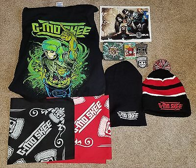 G-Mo Skee 5x Shirt Bandana Beanie Hat Charm Patch Flat Pin Lot ICP Twiztid CD