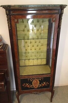 Reproduction antique French style display cabinet