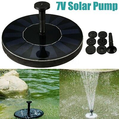 Solar Water Panel Power Fountain Floating Pump Submersible Pool Garden Pond Kit