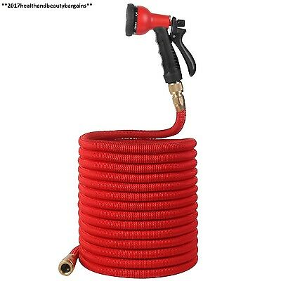 WEINAS 100Ft Garden Hose Pipe Expandable with Replacement Spray Gun Solid...