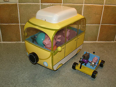 Peppa Pig Camper Van & Moon Buggy with Accessories and 6 Figures