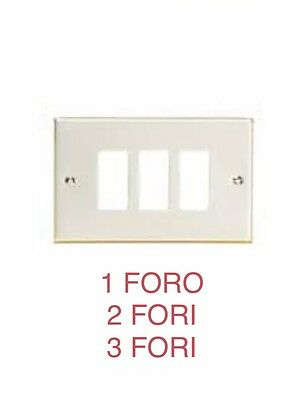 Compatibile Bticino Magic Placca 1-2-3 Fori Alluminio