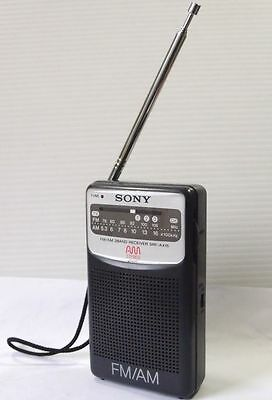 Rare SONY Pocket Size AM/FM(Stereo) Radio SRF-AX15. USED. Works. Made in JAPAN
