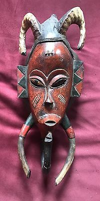 Powerful W. African Mask of truly evil horned being - Occult, Haunted