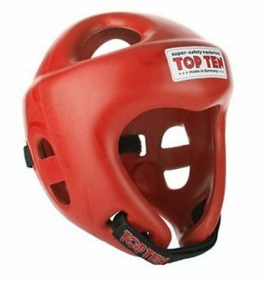 """Top Ten Head guard- Competition """"FIGHT"""" - AIBA & WAKO Approved Black, Red & Blue"""