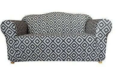 SUREFIT TRIBAL PRINT fitted sofa cover. 2 -2.5 seater. New