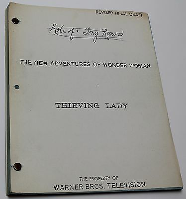 Wonder Woman * 1977 Original RARE TV Show Script * Episode Posing as jewel thief