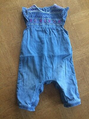 Baby Girls Summer Romper Outfit Denim 0-3 Months