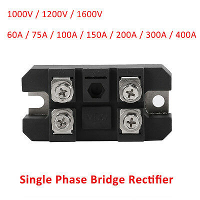 60/75/100/150/200/300/400A 1600V Bridge Rectifier Full Wave Single Phase Diode