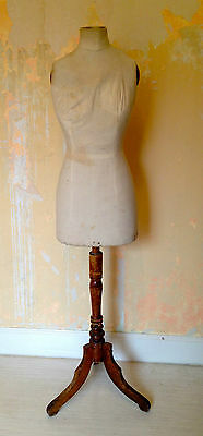 Antique Edwardian dressmakers dummy and stand