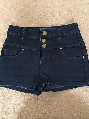 New Look High Waisted Denim Shorts / Hotpants Age 12