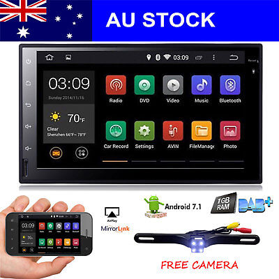 "7""Android6.0 Double 2Din Car NO-DVD Player Radio Stereo Headunit GPS SAT NAV AUX"
