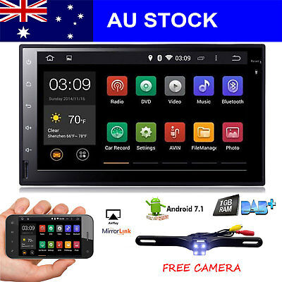 "7""Android7.1 Double 2Din Car NO-DVD Player Radio Stereo Headunit GPS SAT NAV AUX"