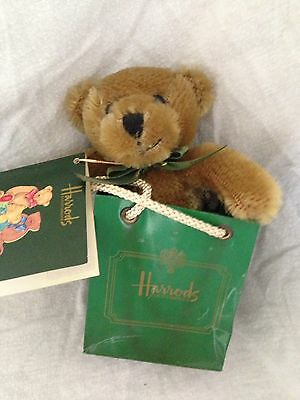 Small Harrods Teddy In Harrods Bag