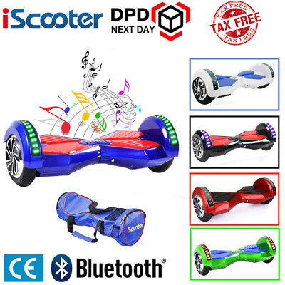 "8"" Gyropode Hoverboard Overboard Skate Scooter électrique Bluetooth Neuf Iscoote"