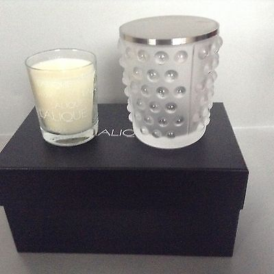 Lalique Crystal Votive Holder with candle
