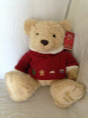 "HARRODS Christmas Bear 2009 ""Maxwell"" Foot Dated & Sitting 13"" Tall"
