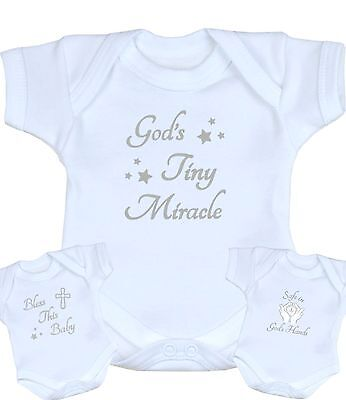 BabyPrem Premature Tiny Early Baby Clothes White Bodysuits Christening Keepsakes