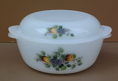 Cocotte ARCOPAL FRUITS vintage plat à four ancienne old stewpan french dishes