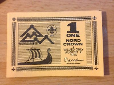 14th World Scout Jamboree, Norway, 1 Nord Crown - valid on August 2nd 1975