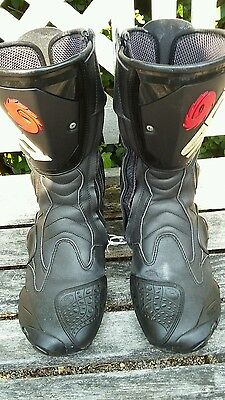 SIDI mens motorcycle boots, black, size 10
