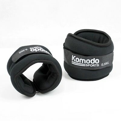 Komodo Neoprene Ankle / Wrist Weights Running Training Exercise Fitness Weight