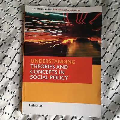 Understanding Theories and Concepts in Social Policy by Ruth Lister (Paperback,