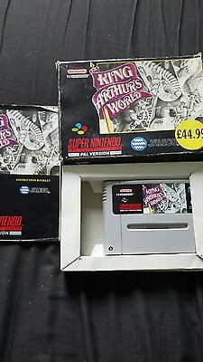King Arthur's world Snes super nintendo boxed with instructions pal
